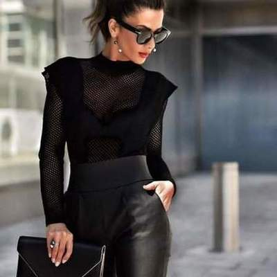 Black total look of the season autumn-winter 2019-2020