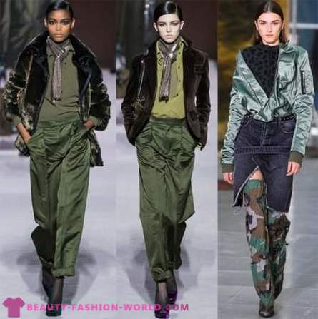 Military style in women's fashion 2019-2020