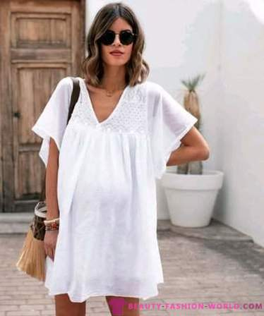 Trendy summer look for pregnant women - 2019