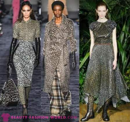 Animal print - fashion trend 2018-2019
