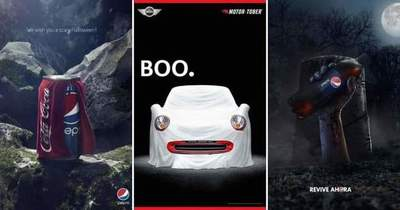22 examples of creative advertising well-known brands on Halloween