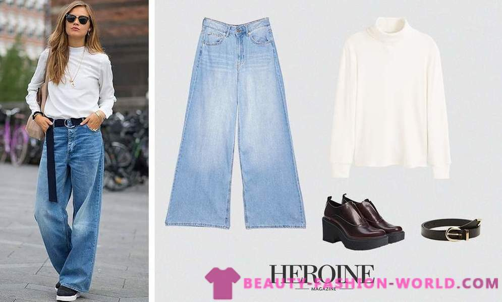 5 ways to wear wide jeans