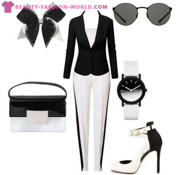 Stylish sets in black and white