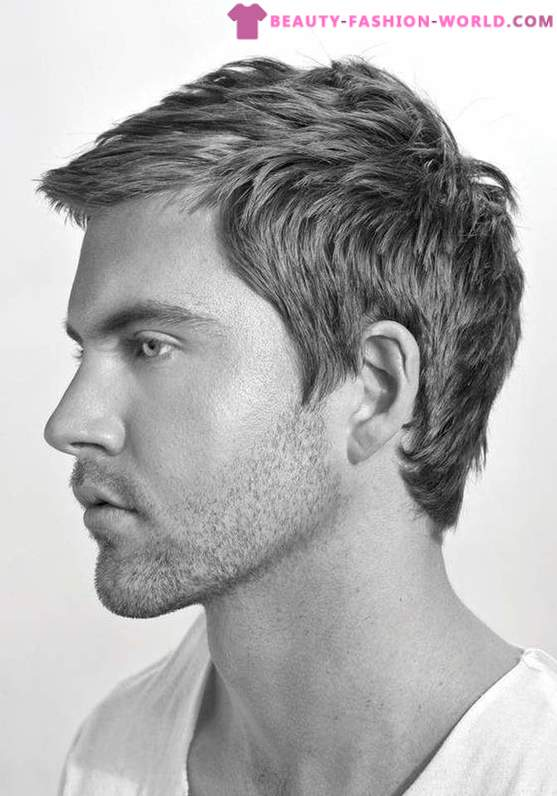 Modern men's haircuts and styling in 2015