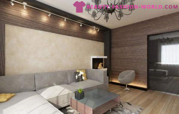 How to arrange the living room interior in beige color with comfort
