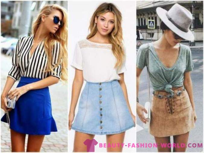 Fashion summer skirt 2018 styles, silhouette, colors
