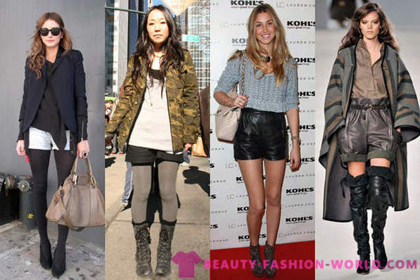 From what to wear shorts in autumn and winter