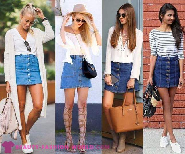 From what to wear denim skirt