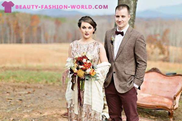 Fashionable outfits for the bride and groom 2015-2016
