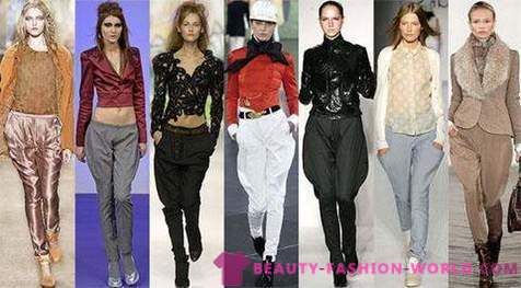From what to wear women's pants breeches?