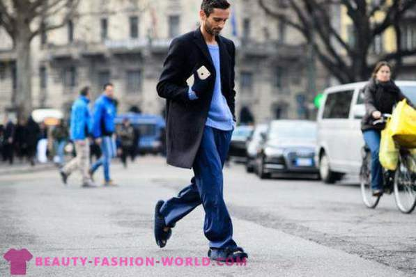 2015 men's fashion images from the streets of Milan