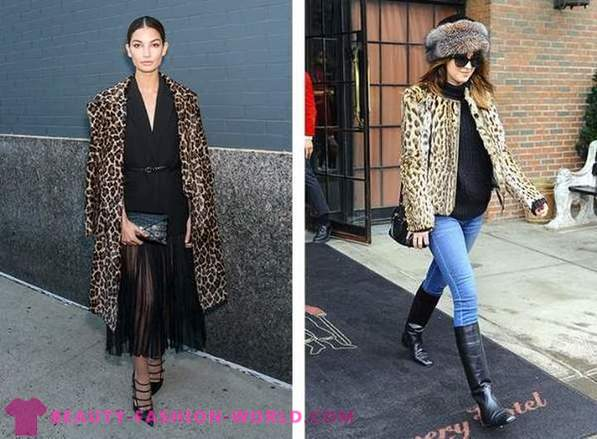 Celebrities in the trendy leopard print