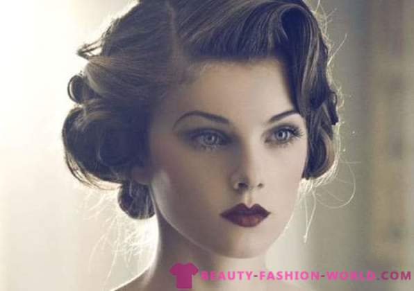 Women's hairstyles in the style of a retro 2015