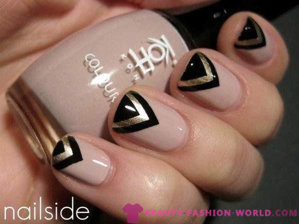 Stylish manicure neutral tones