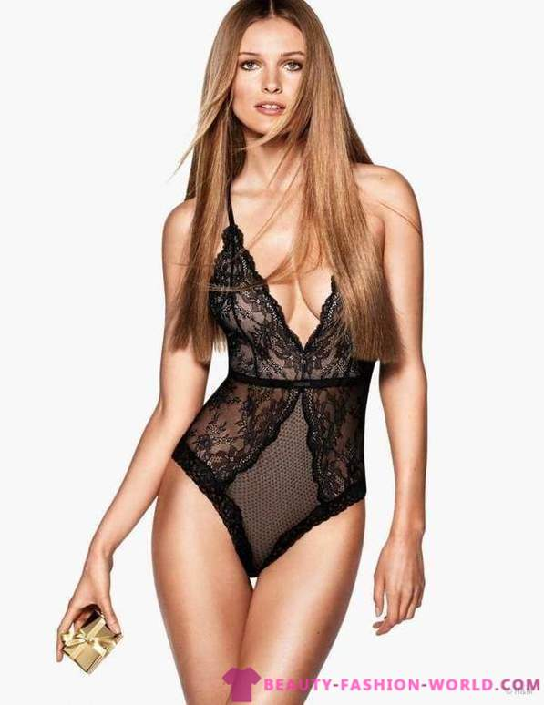 Edita Vilkeviciute for Christmas lingerie collection of H & M
