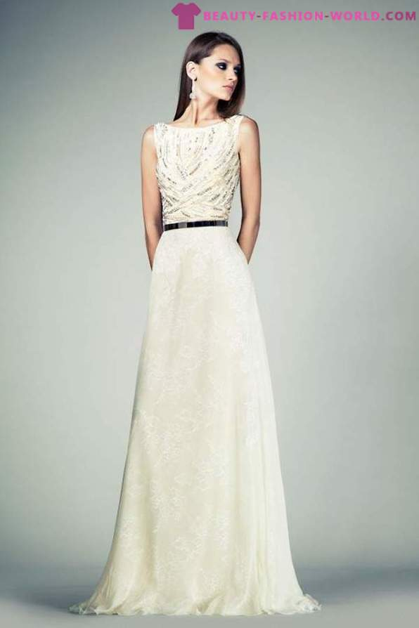 A collection of evening dresses in 2014 by Tony Ward for the season Spring-Summer