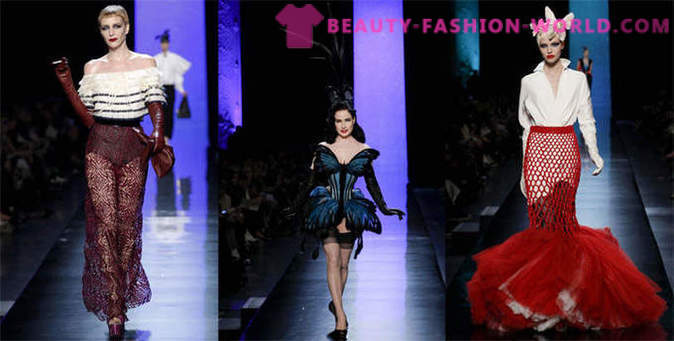 Collection of women's clothing from Jean Paul Gaultier Spring-Summer 2014