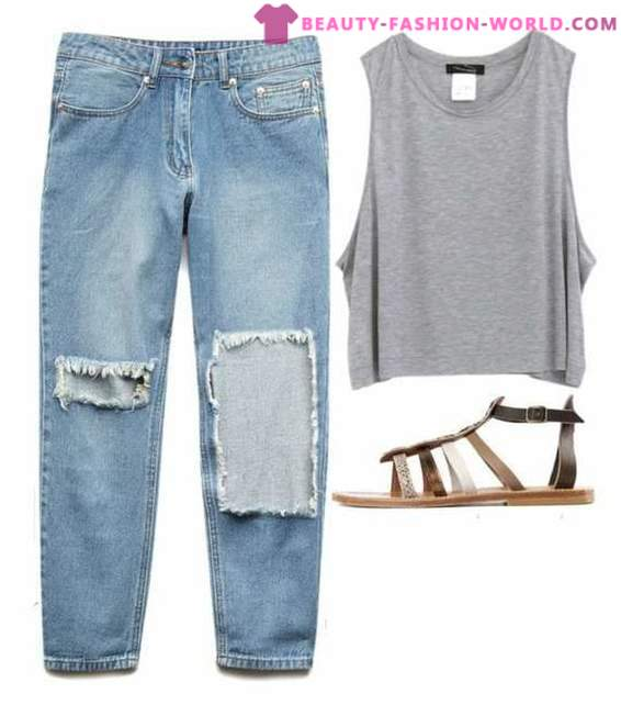 How and what to wear with jeans boyfriend in 2015