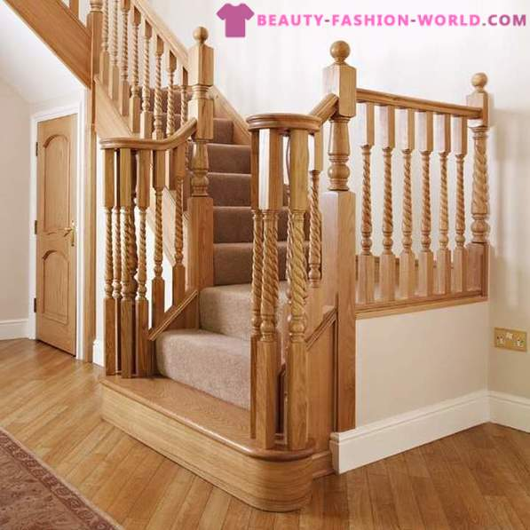 A wooden staircase exclusive configuration or type constructors