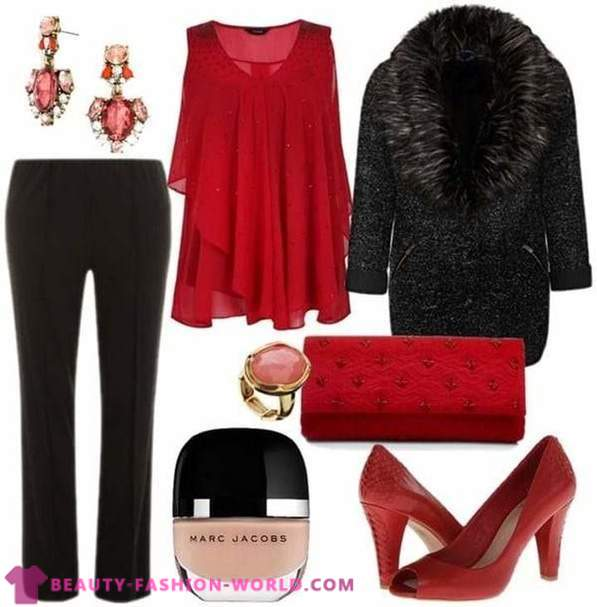 Beautiful festive clothes for larger women 2014-2015