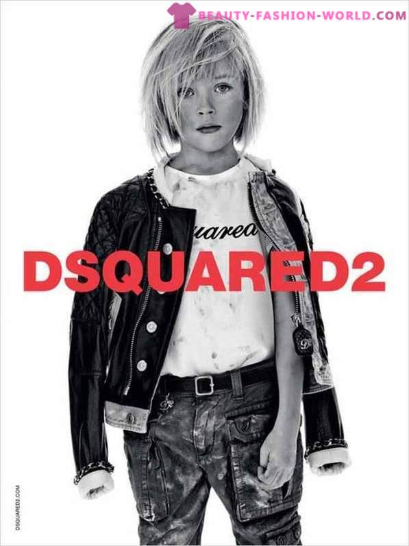 A collection of children's clothing from Dsquared2 for spring-summer 2014