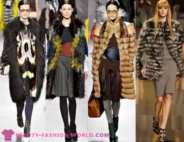 Fashionable styles of fur coats and fur coats Winter 2014