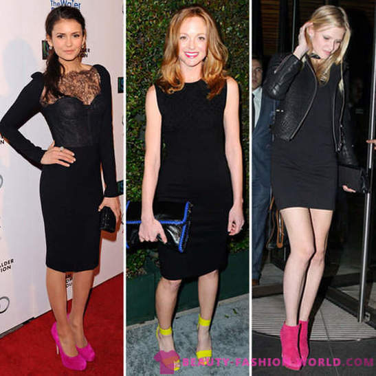 5 ways of combining little black dress with accessories