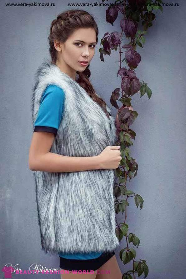 Coat of faux fur from the designer brand VERA YAKIMOVA