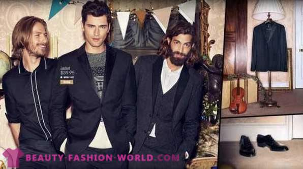 Festive collection of men's clothing H & M 2013
