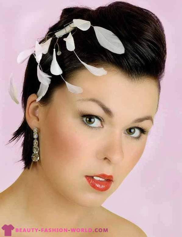 Wedding hairstyles with short hair 2013-2014