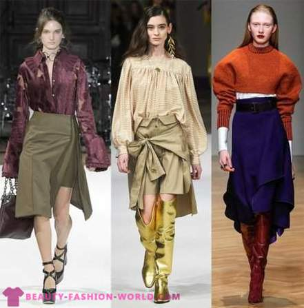 What in 2018 to combine the trousers and skirts?