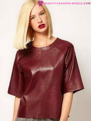 Fashionable leather blouses - 2018