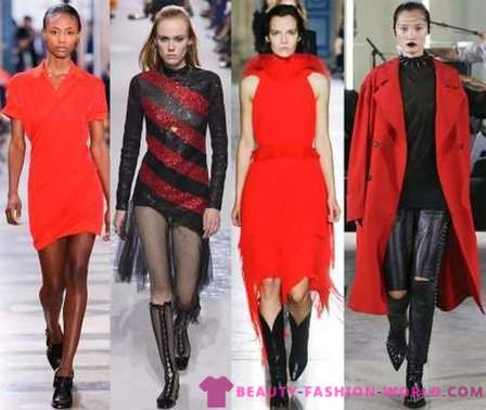 Red and black in fashion in 2018