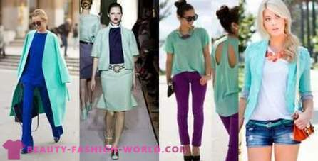 Clothing mint color: what to combine?