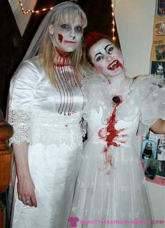 Image of the bride for Halloween