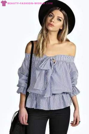 Blouses with open shoulders