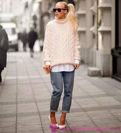 Fashion sweaters with collared - 2017