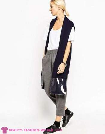 Fashionable cardigan sleeveless