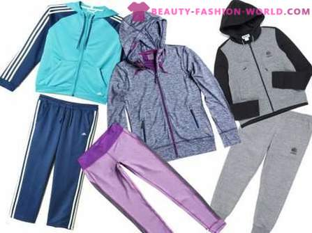 Fashionable clothes in sporty style