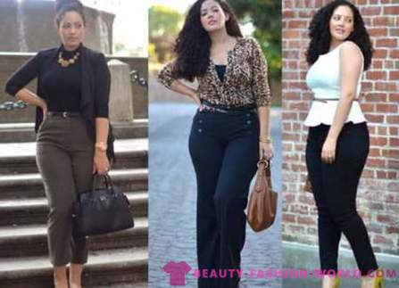 How to dress fashionable girls with wide hips?