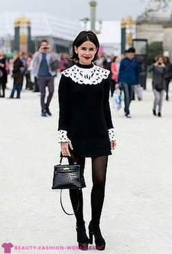 Fashionable mix black and white