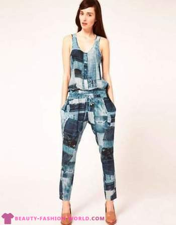 Women's fashion denim overalls