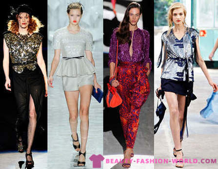 2012 fashion blouses for girls